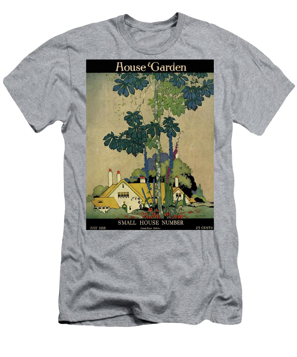 House And Garden Men's T-Shirt (Athletic Fit) featuring the photograph House And Garden Cover by H. George Brandt