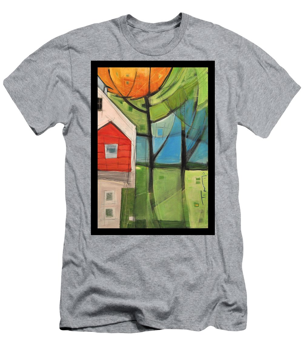 House Men's T-Shirt (Athletic Fit) featuring the painting House In The Trees by Tim Nyberg