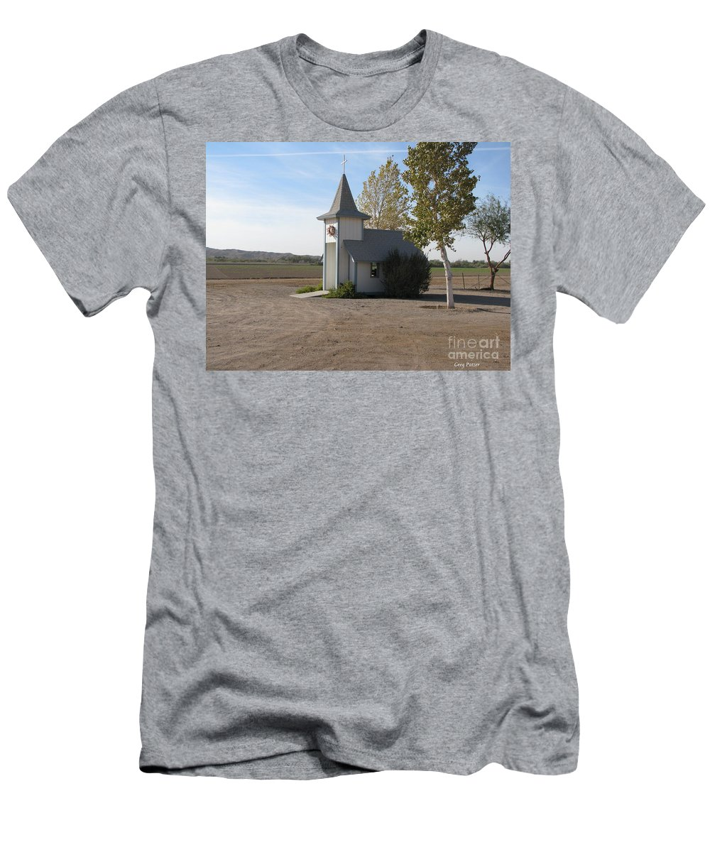 Patzer Men's T-Shirt (Athletic Fit) featuring the photograph House Of The Lord by Greg Patzer