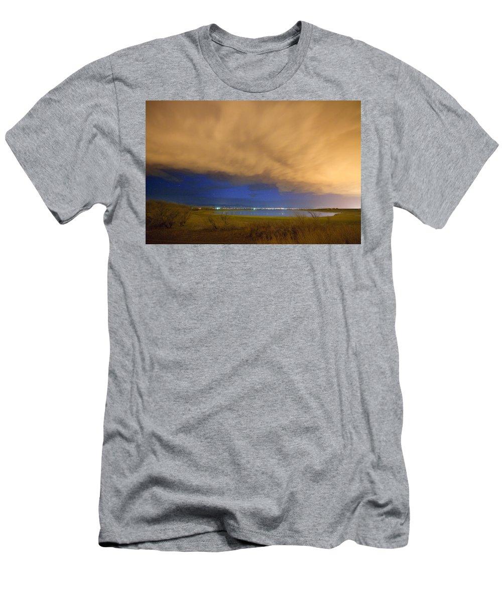Stormy Men's T-Shirt (Athletic Fit) featuring the photograph Hovering Stormy Weather by James BO Insogna