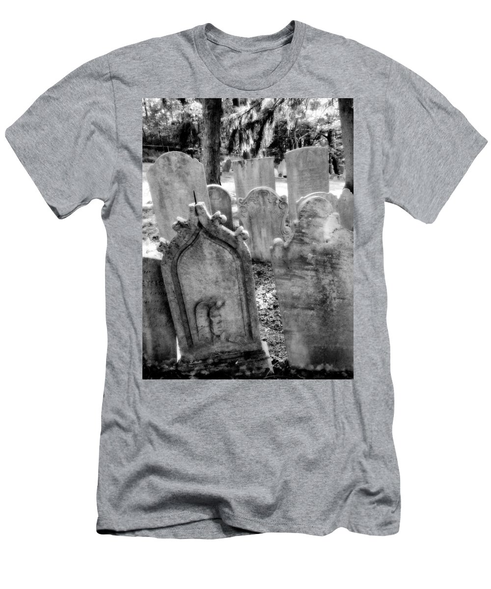 Graveyard Men's T-Shirt (Athletic Fit) featuring the photograph Howard Ave by Michele Nelson
