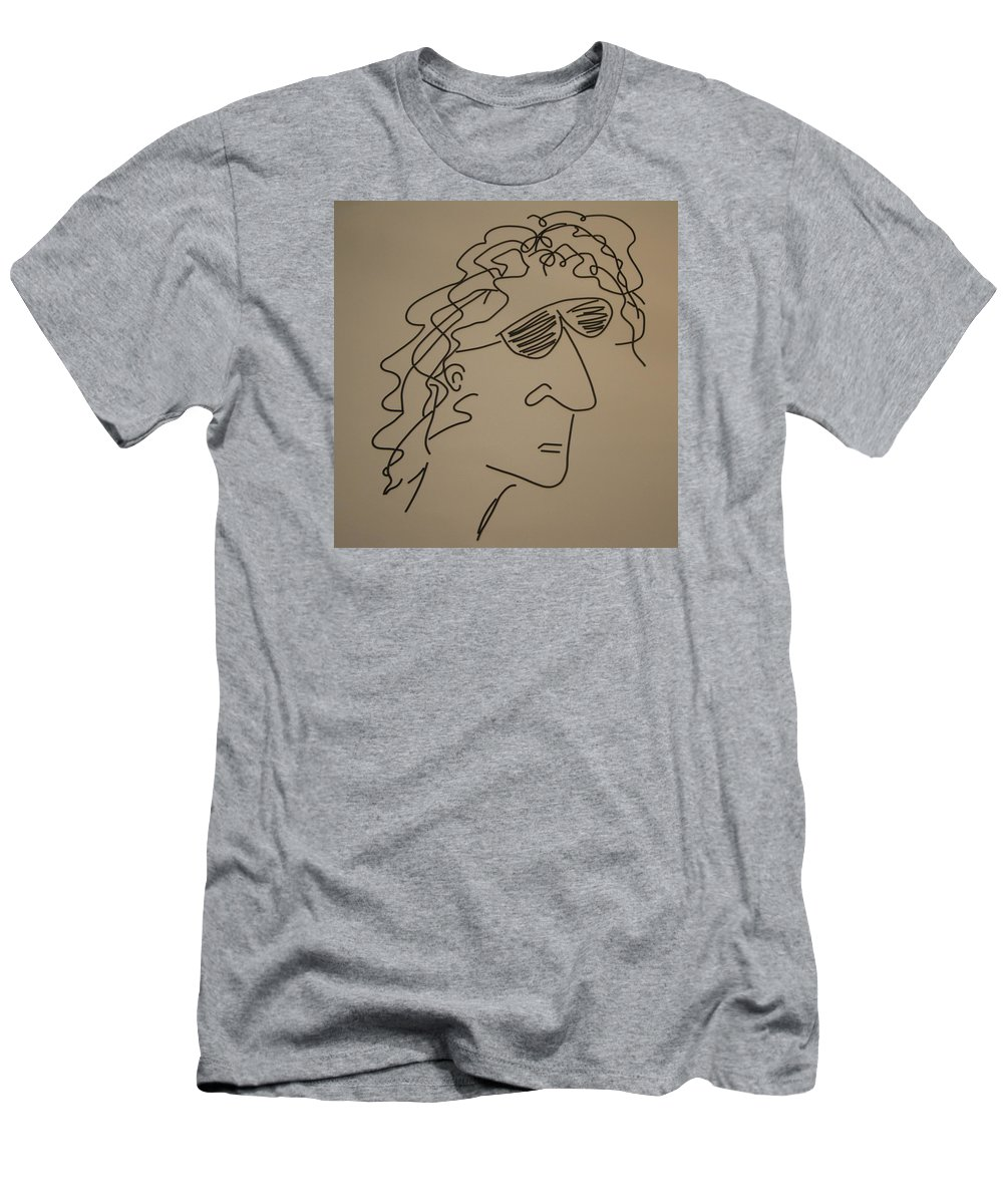 Howardstern Men's T-Shirt (Athletic Fit) featuring the mixed media Howard Stern by Peter Virgancz