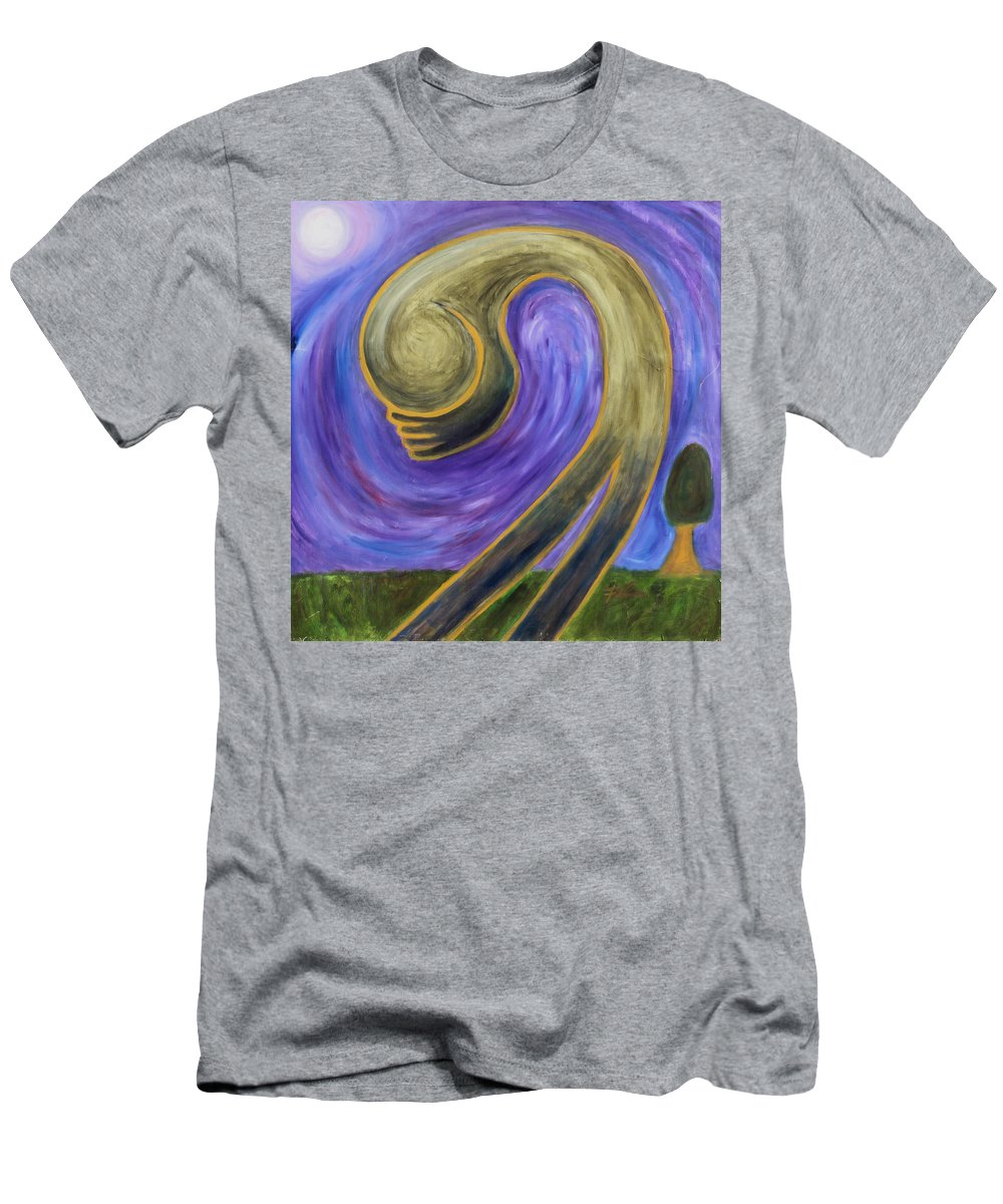 2001 Men's T-Shirt (Athletic Fit) featuring the painting Humility by Will Felix