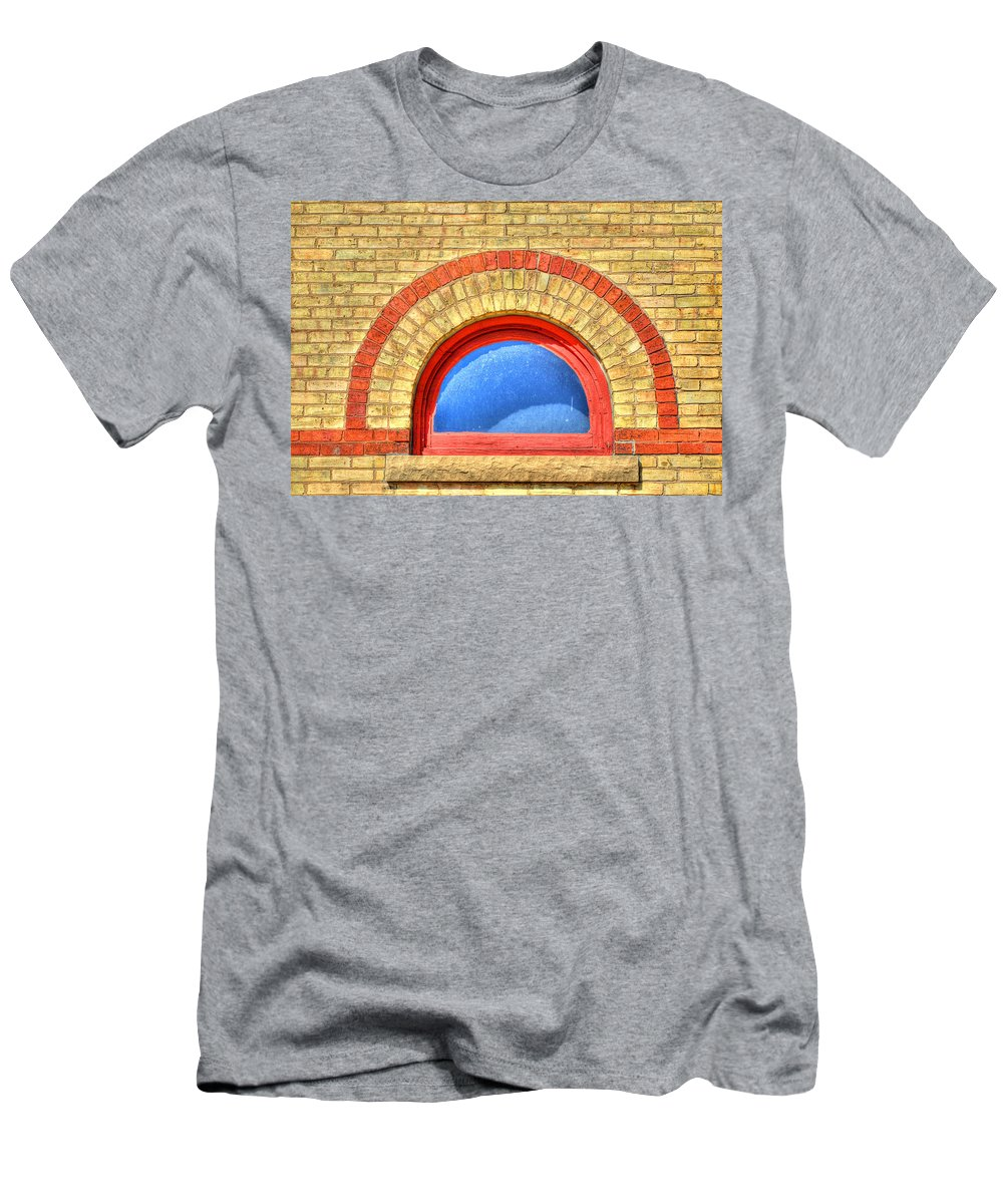 Window Men's T-Shirt (Athletic Fit) featuring the photograph I See Blue by Thomas Young