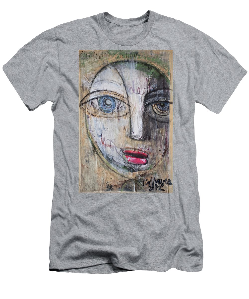 Pop Surrealism Men's T-Shirt (Athletic Fit) featuring the painting I Will Not Abandon Me by Laurie Maves ART