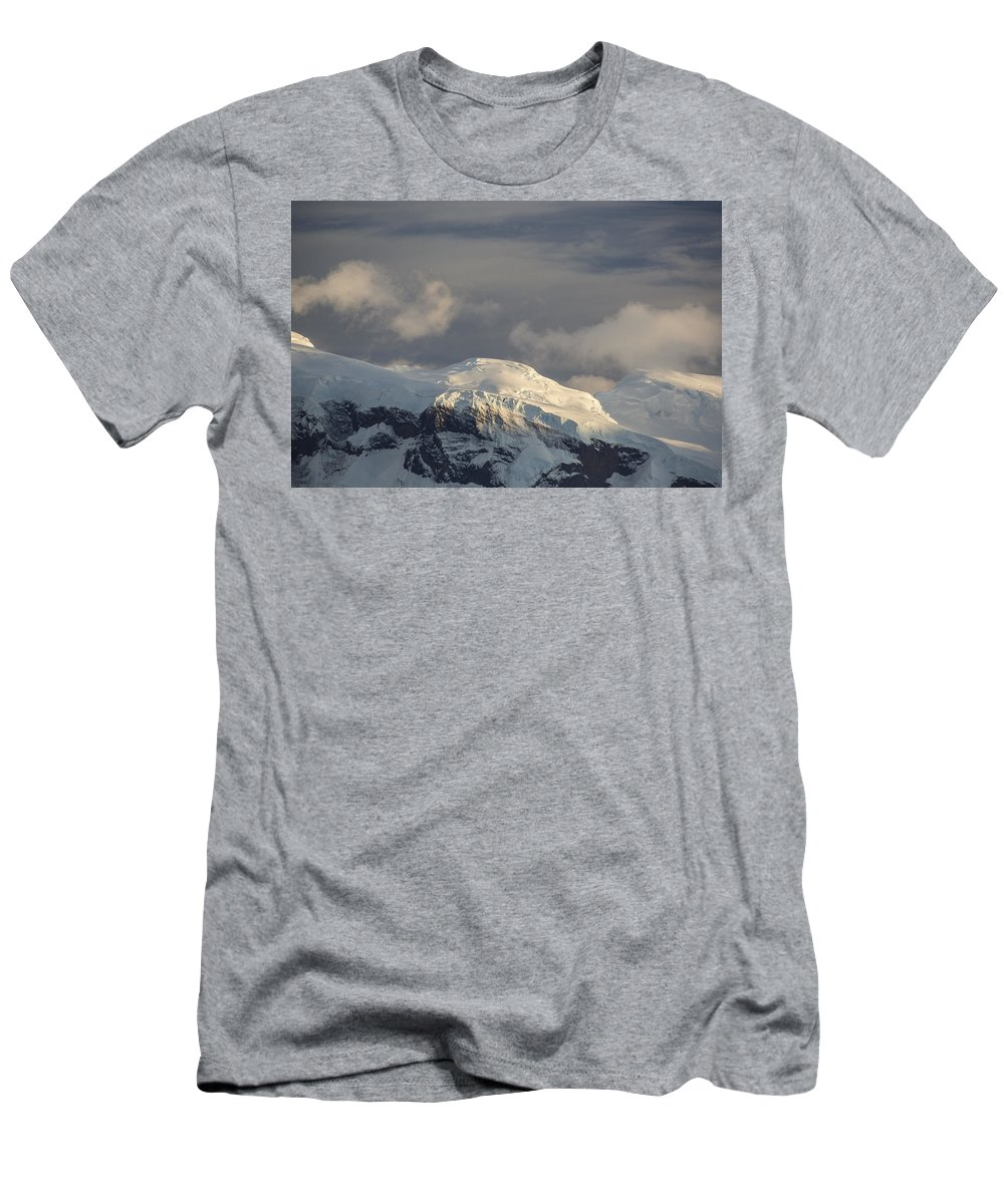 Feb0514 Men's T-Shirt (Athletic Fit) featuring the photograph Ice-capped Mountains Anvers Island by Matthias Breiter