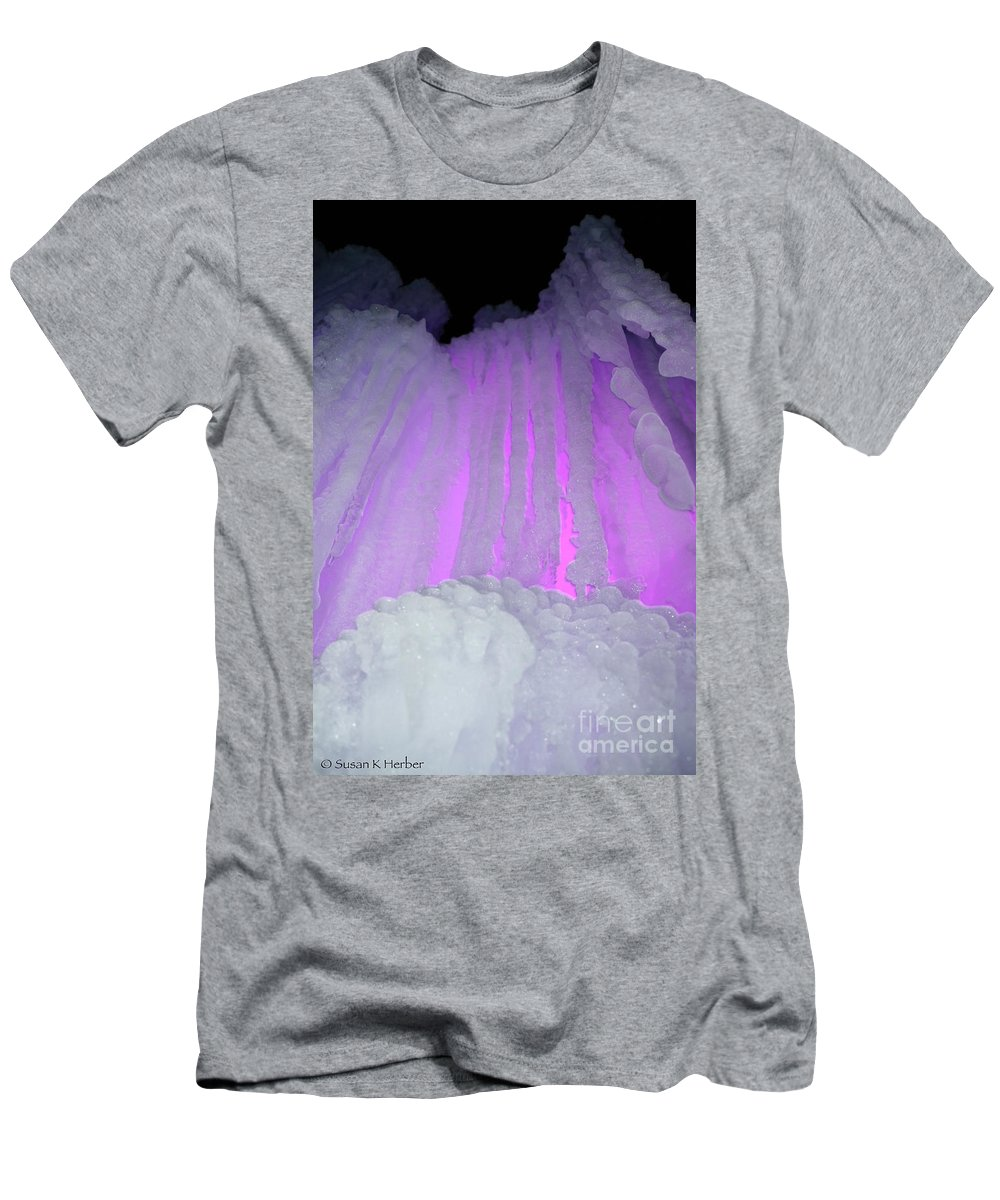 Ice Men's T-Shirt (Athletic Fit) featuring the photograph Ice Cliff by Susan Herber