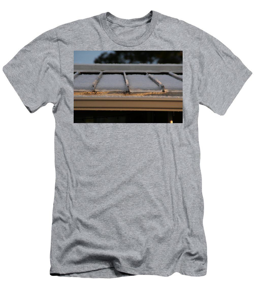 Roof Men's T-Shirt (Athletic Fit) featuring the photograph Ice Roof by David S Reynolds