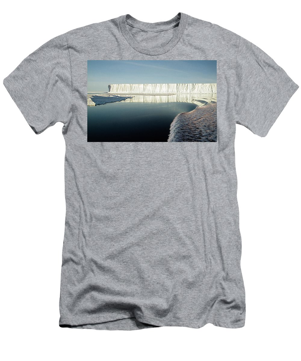 Iceberg Antarctica Men's T-Shirt (Athletic Fit) featuring the photograph Iceberg Ross Sea Antarctica by Carole-Anne Fooks
