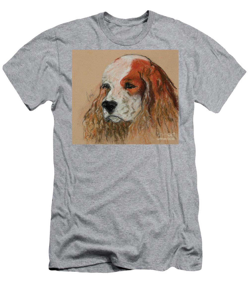 Dog Men's T-Shirt (Athletic Fit) featuring the pastel Idle Thoughts by Cori Solomon