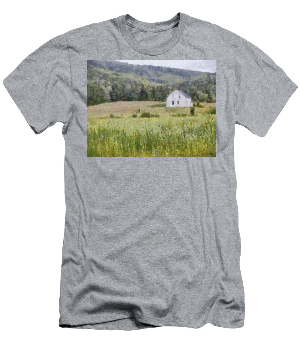 Alone Men's T-Shirt (Athletic Fit) featuring the painting Idyllic Isolation by Jeffrey Kolker