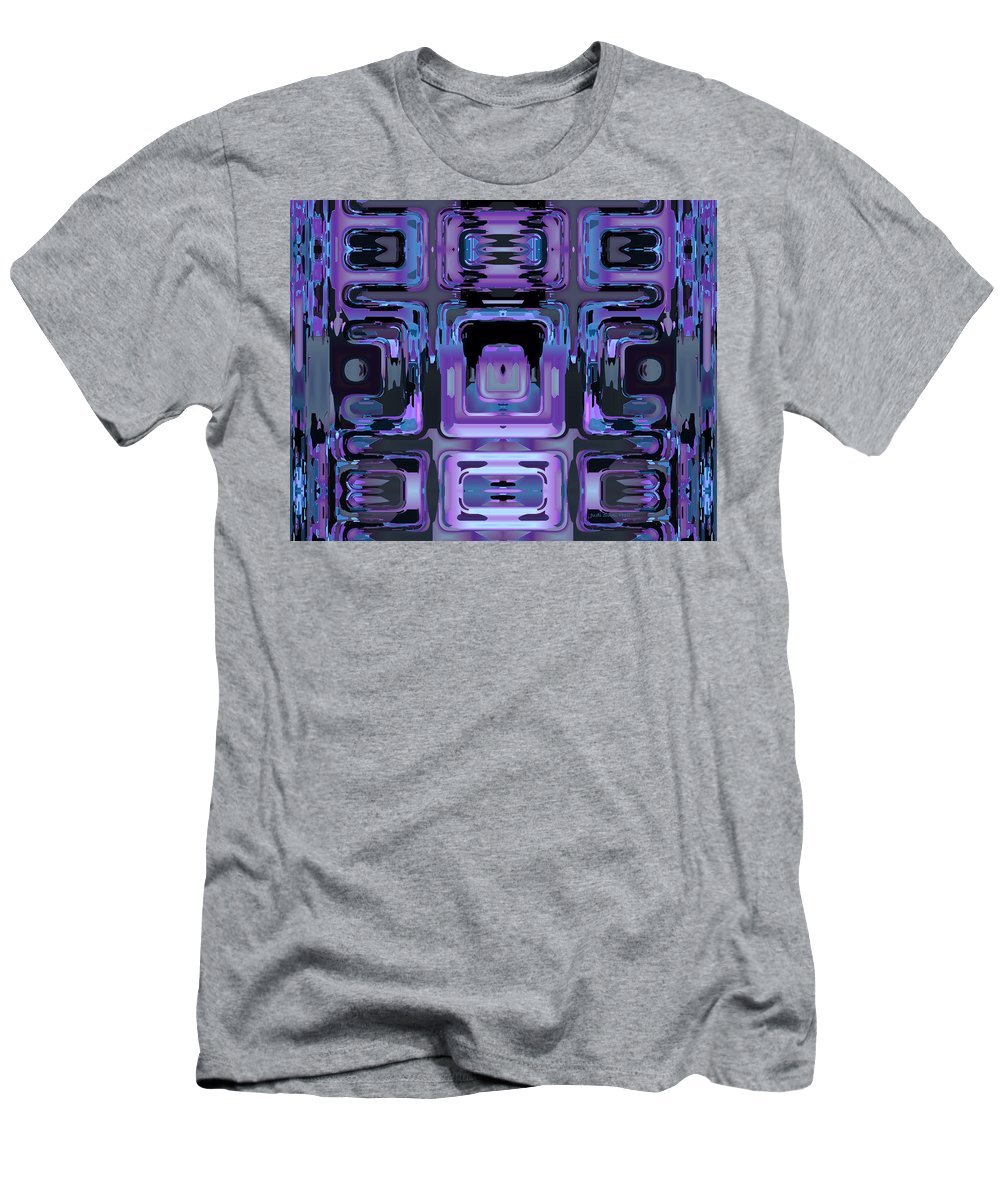 Abstract Men's T-Shirt (Athletic Fit) featuring the digital art If Then Else by Judi Suni Hall