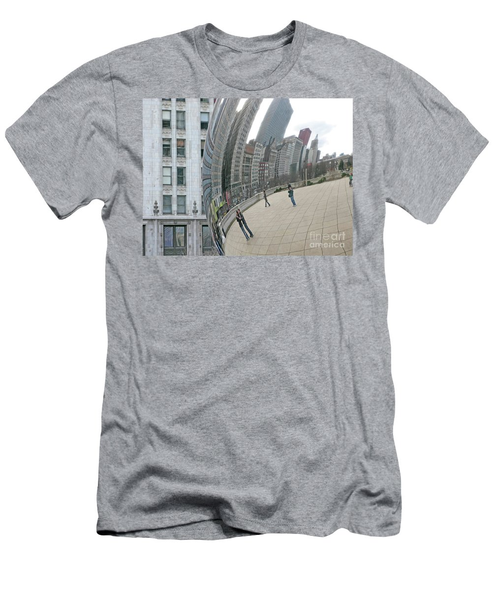 Chicago Men's T-Shirt (Athletic Fit) featuring the photograph Imaging Chicago by Ann Horn