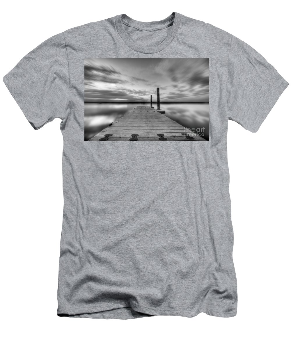 Manasquan Reservoir Men's T-Shirt (Athletic Fit) featuring the photograph In Motion by Michael Ver Sprill