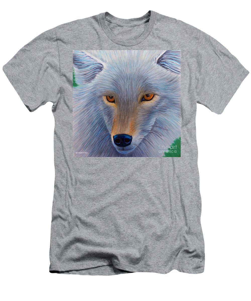 Coyote Men's T-Shirt (Athletic Fit) featuring the painting In The Flow by Brian Commerford
