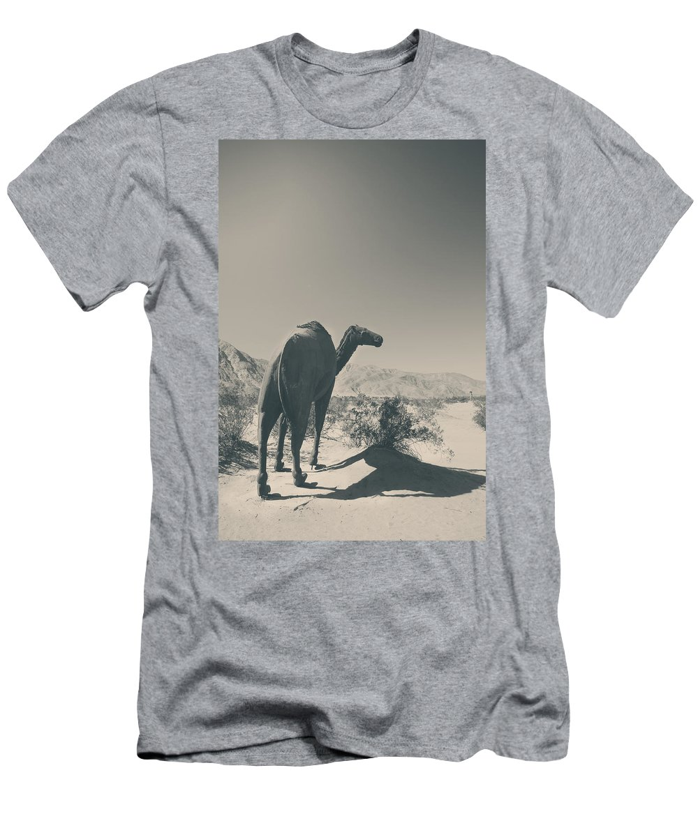 Borrego Springs Men's T-Shirt (Athletic Fit) featuring the photograph In The Hot Desert Sun by Laurie Search