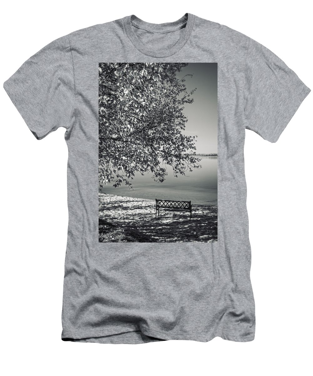 Lake Men's T-Shirt (Athletic Fit) featuring the photograph In The Moments When We Breathe by Sandra Parlow