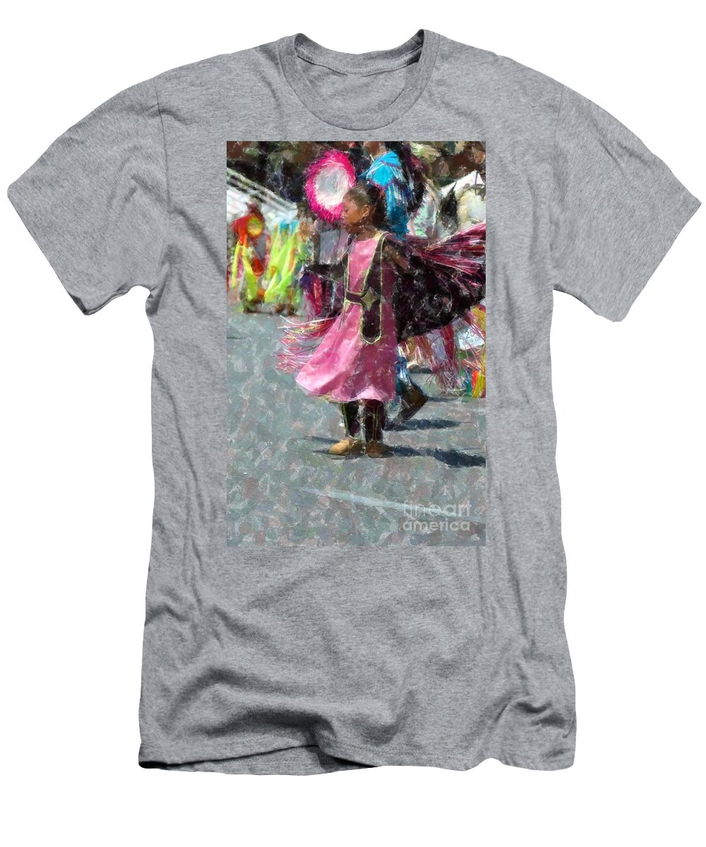 Native American Men's T-Shirt (Athletic Fit) featuring the photograph Indian Princess Dancer by Kathleen Struckle