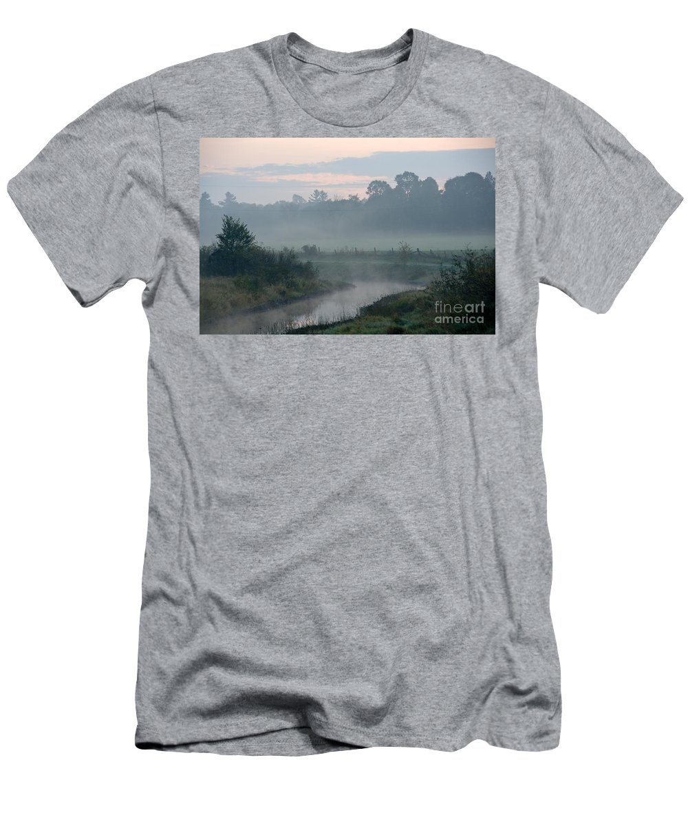 Men's T-Shirt (Athletic Fit) featuring the photograph Indian River Sunrise by Cheryl Baxter