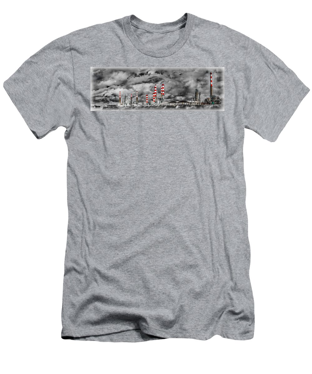 Industry Men's T-Shirt (Athletic Fit) featuring the photograph Industry by Ernesto Santos