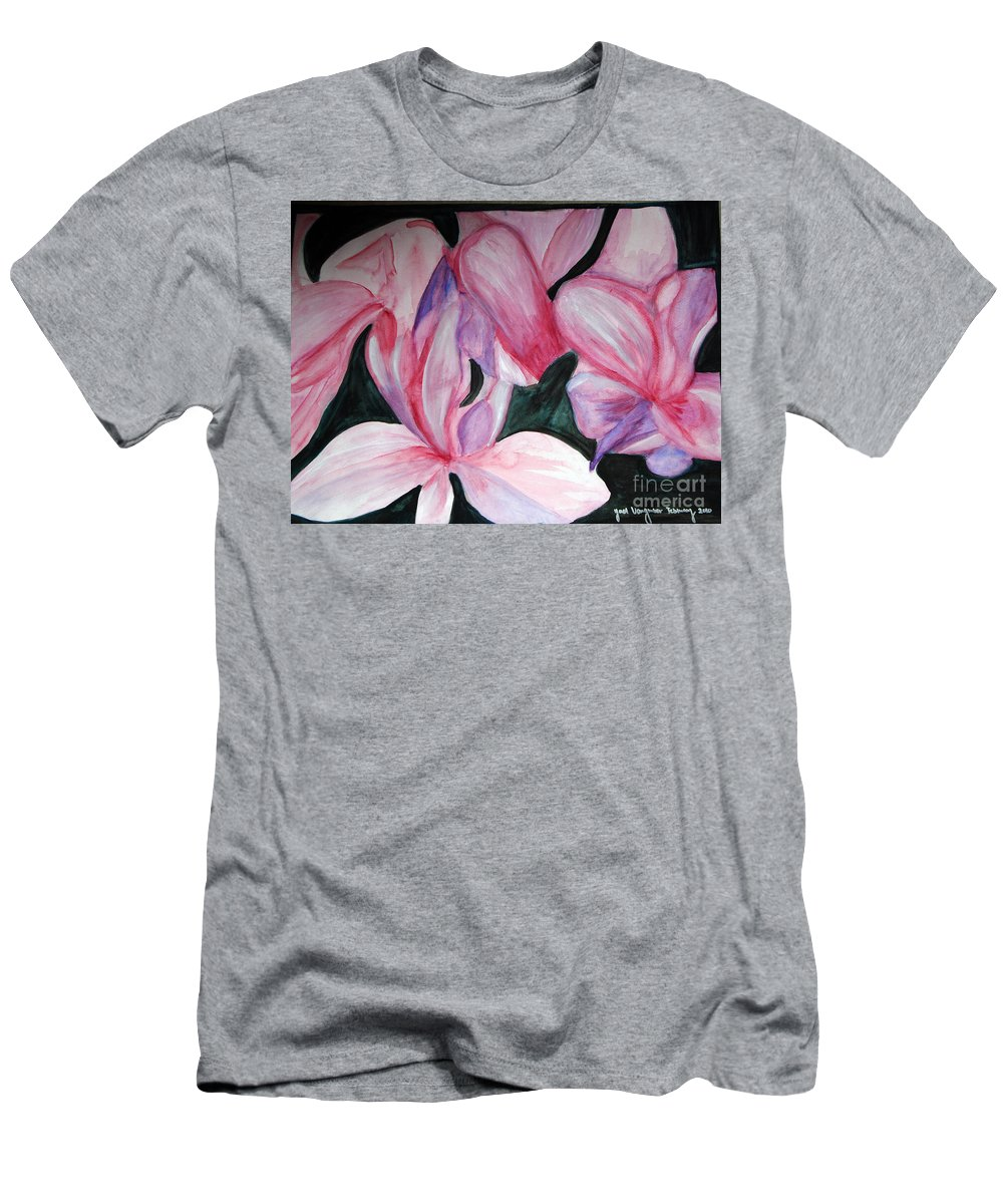 Flower Water Color Abstract T-Shirt featuring the painting Innocence by Yael VanGruber