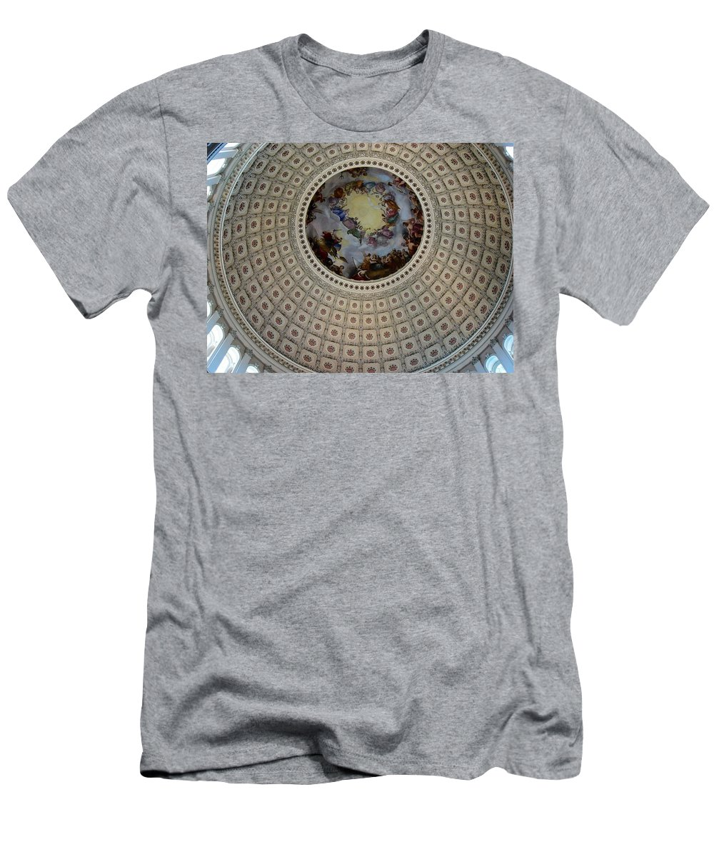 Capitol Men's T-Shirt (Athletic Fit) featuring the photograph Inside The Capitol Dome by Lois Ivancin Tavaf