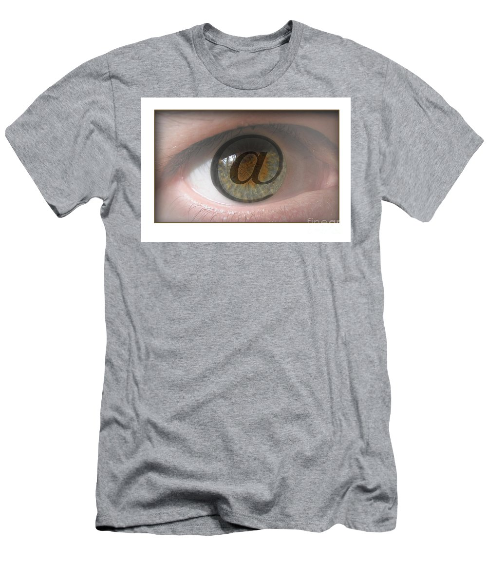 Eye Men's T-Shirt (Athletic Fit) featuring the digital art Internet by Chris Van Es