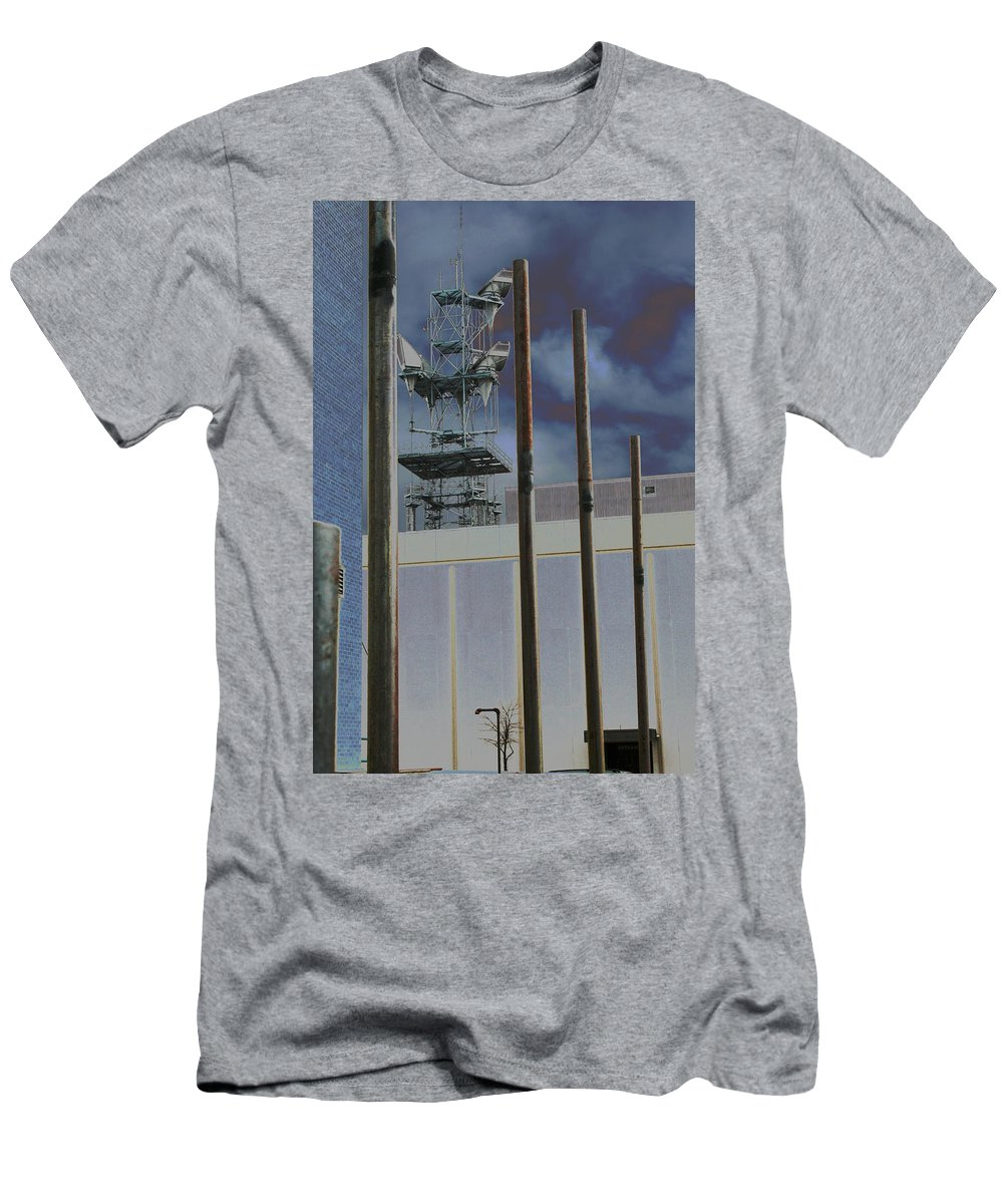 Industrial Men's T-Shirt (Athletic Fit) featuring the photograph Invisible Industry by Ric Bascobert
