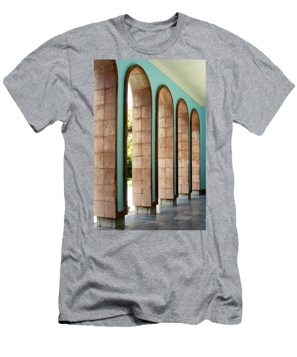 Saadi Men's T-Shirt (Athletic Fit) featuring the photograph Iran Saadi Monument Shiraz by Lois Ivancin Tavaf