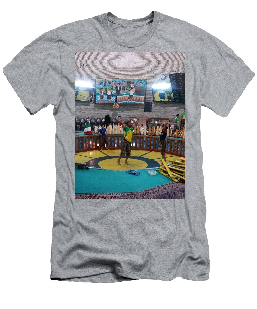 House Of Strength Men's T-Shirt (Athletic Fit) featuring the photograph Iran Yazd House Of Strength by Lois Ivancin Tavaf