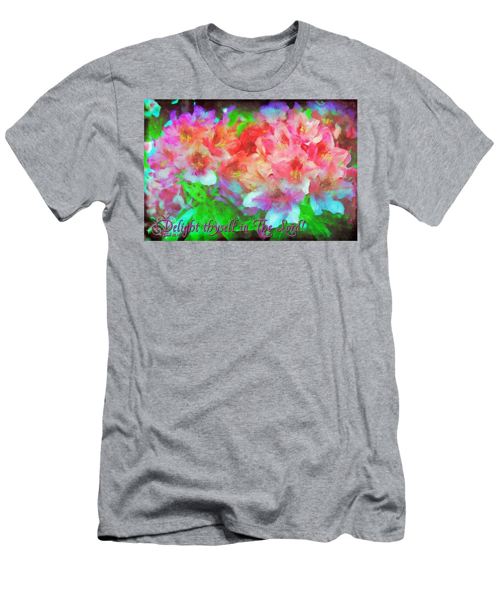Jesus Men's T-Shirt (Athletic Fit) featuring the digital art Isaiah 58 14 by Michelle Greene Wheeler