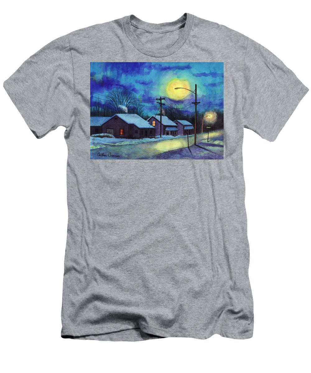 Winter Men's T-Shirt (Athletic Fit) featuring the painting Its Cold Outside. by Arthur Barnes
