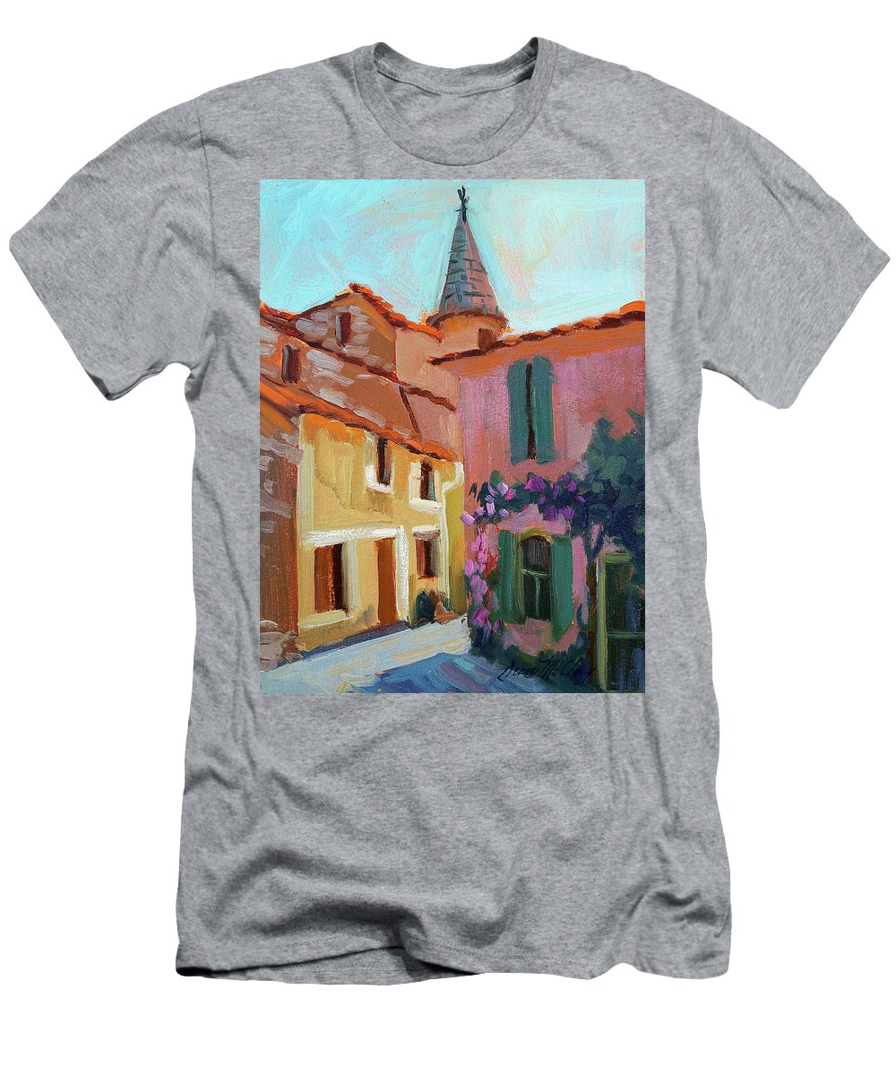 Jacques House Men's T-Shirt (Athletic Fit) featuring the painting Jacques House by Diane McClary