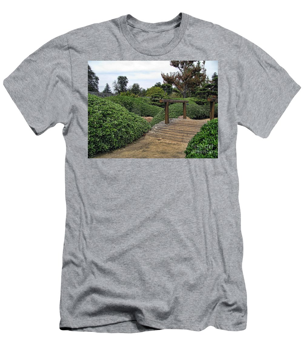 Photo Men's T-Shirt (Athletic Fit) featuring the photograph Japanese Garden Of Water And Fragrance 3 by Peter Awax