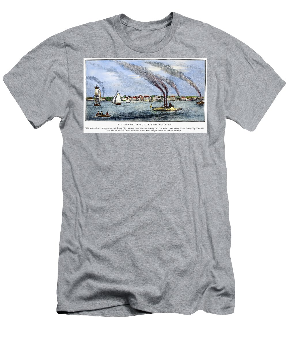 1844 Men's T-Shirt (Athletic Fit) featuring the painting Jersey City, 1844 by Granger