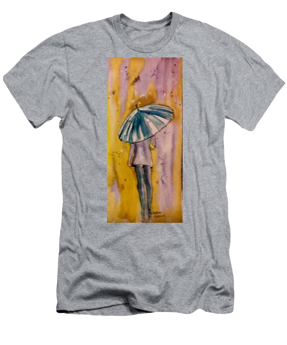 Jo Malone Men's T-Shirt (Athletic Fit) featuring the painting Jo Malone 4 by Debbie Lewis