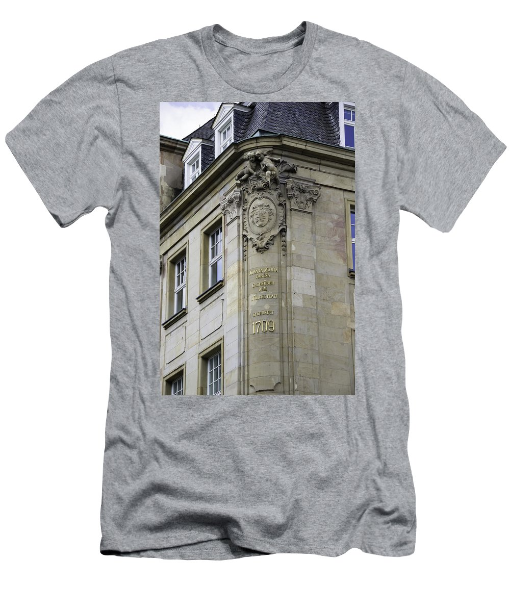 2014 Men's T-Shirt (Athletic Fit) featuring the photograph Johann Maria Farina Factory 1709 Cologe Germany by Teresa Mucha