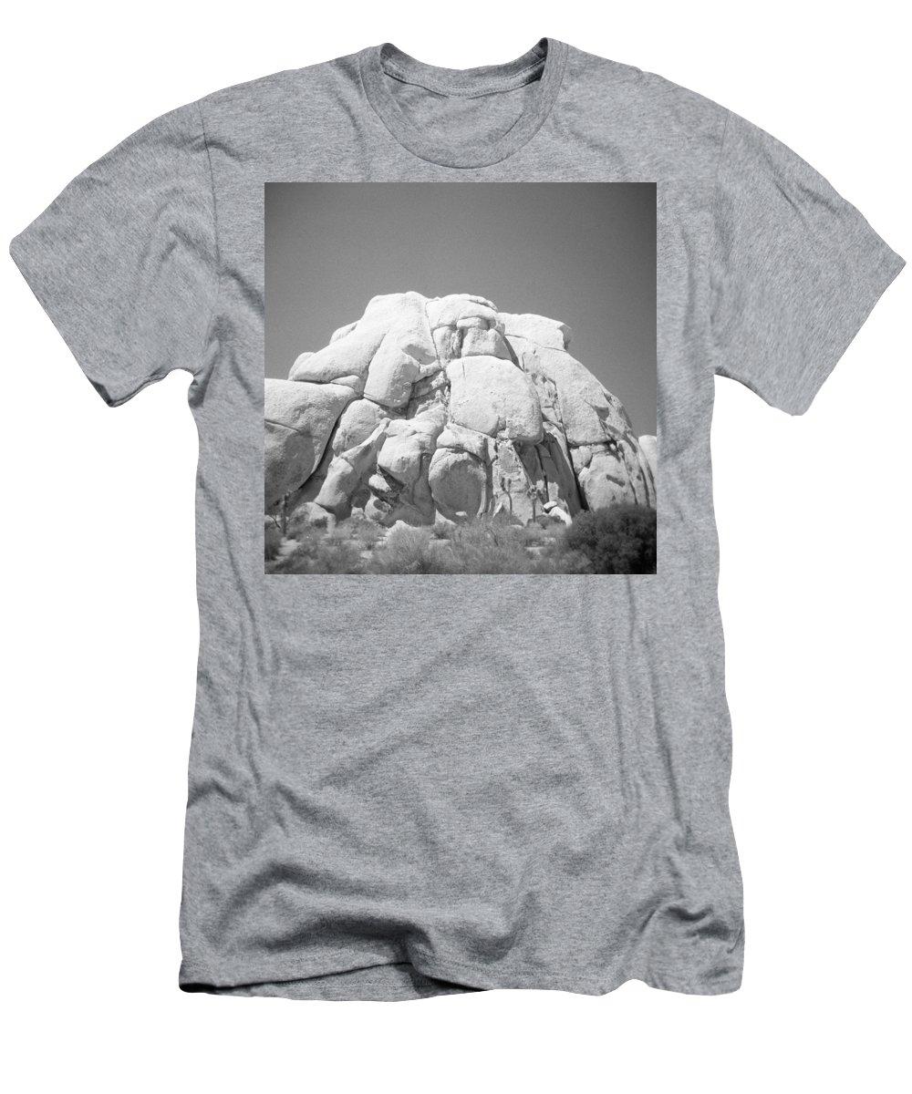 Joshua Tree Men's T-Shirt (Athletic Fit) featuring the photograph Joshua Tree Holga 10 by Alex Snay