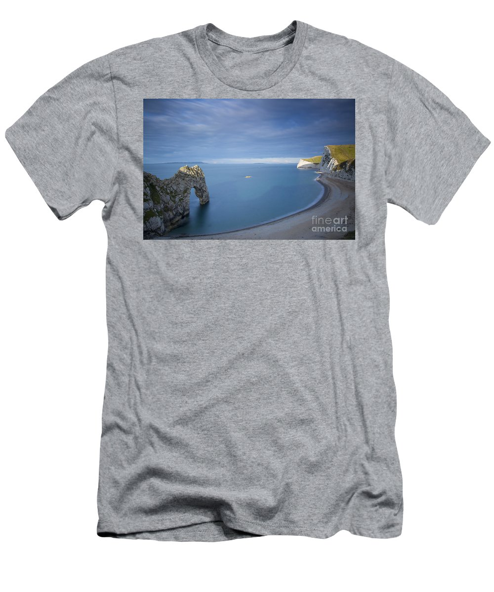 Beach Men's T-Shirt (Athletic Fit) featuring the photograph Jurassic Coast - Durdle Door by Brian Jannsen