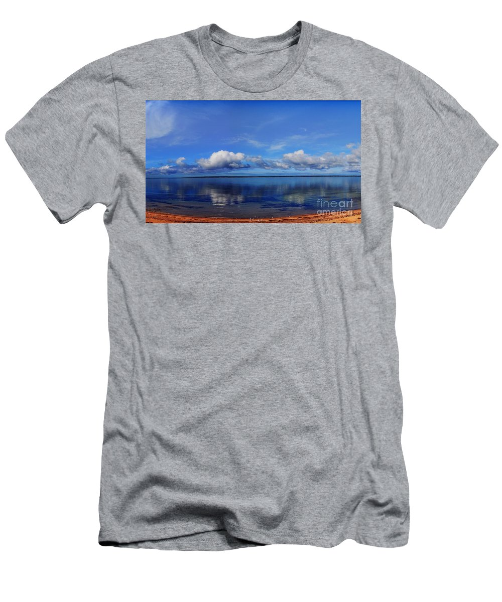Water Men's T-Shirt (Athletic Fit) featuring the photograph Kingscote View by Stephen Mitchell