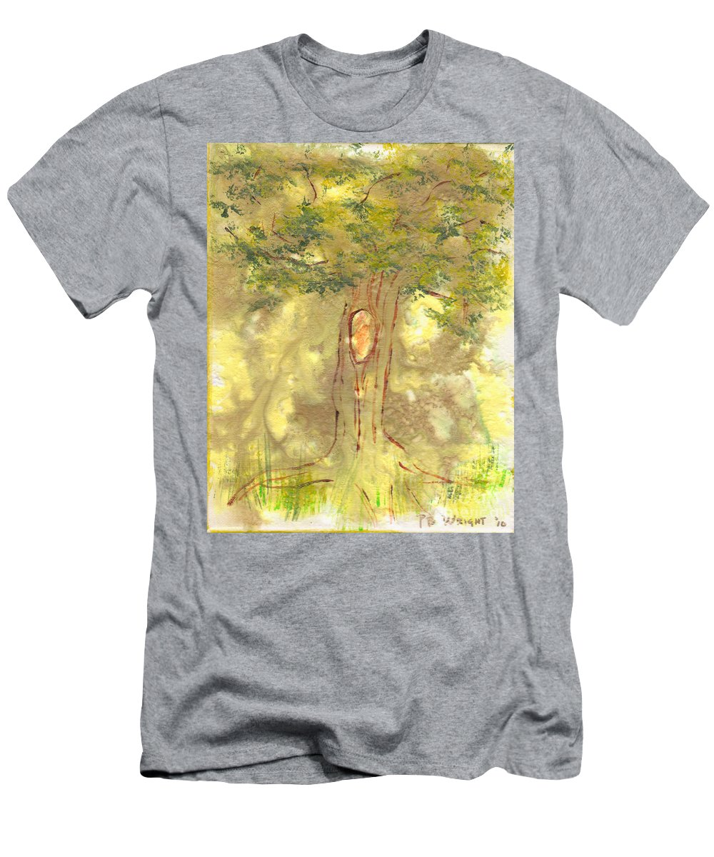 Tree Men's T-Shirt (Athletic Fit) featuring the painting Knot by Paulette B Wright