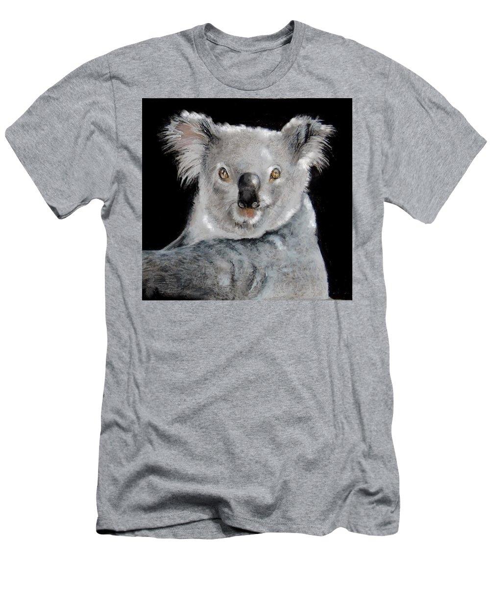 Koala Men's T-Shirt (Athletic Fit) featuring the drawing Koala by Jean Cormier