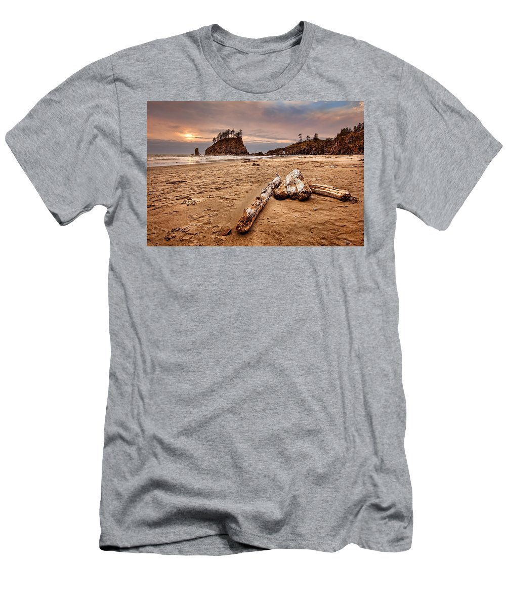 2nd Beach Men's T-Shirt (Athletic Fit) featuring the photograph La Push by Ian Good