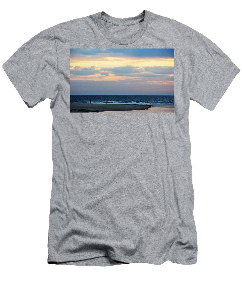 Lake Michigan Men's T-Shirt (Athletic Fit) featuring the photograph Lake Michigan by Linda Kerkau