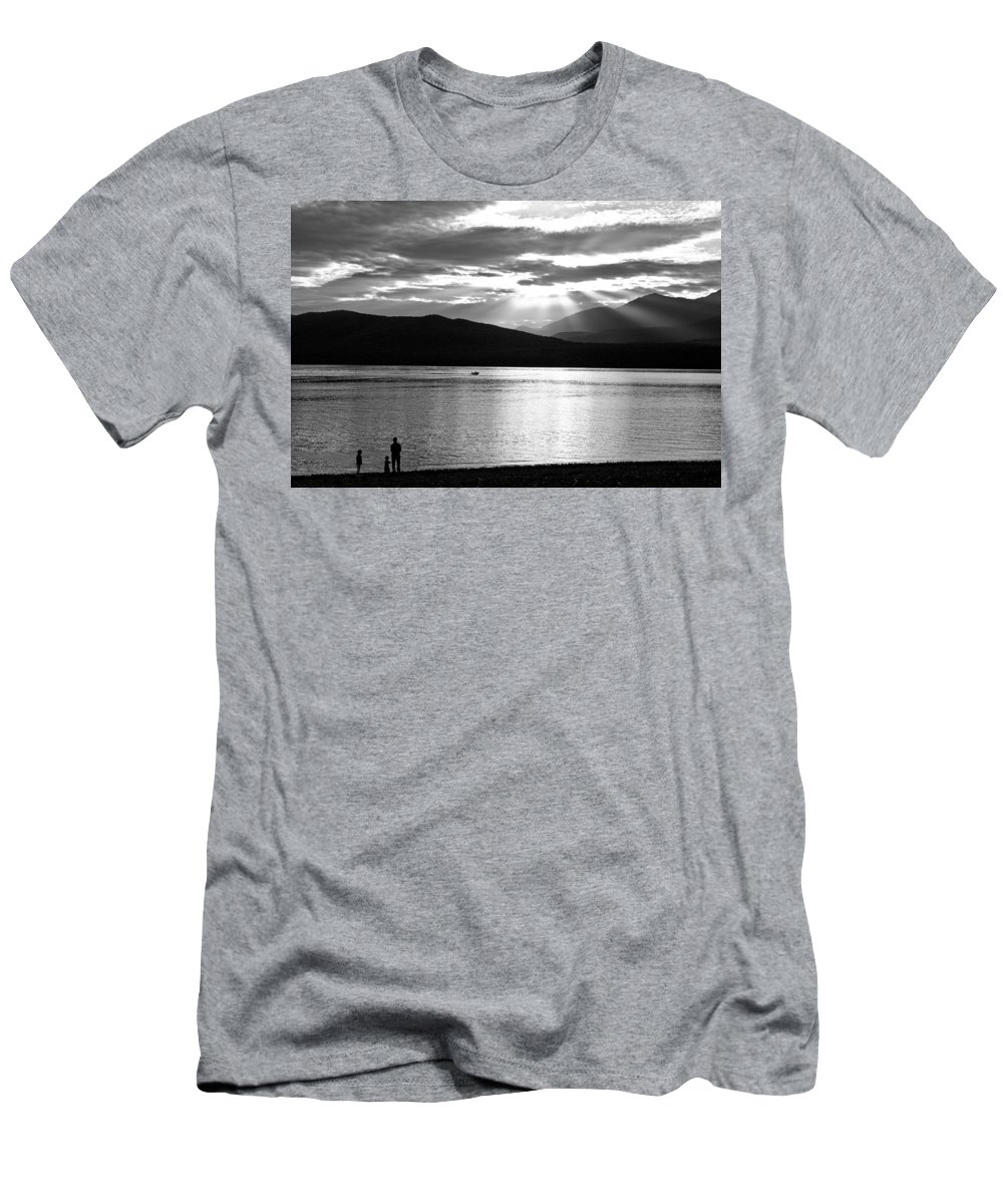 Lake Men's T-Shirt (Athletic Fit) featuring the photograph Lake Te Anau by Alexey Stiop