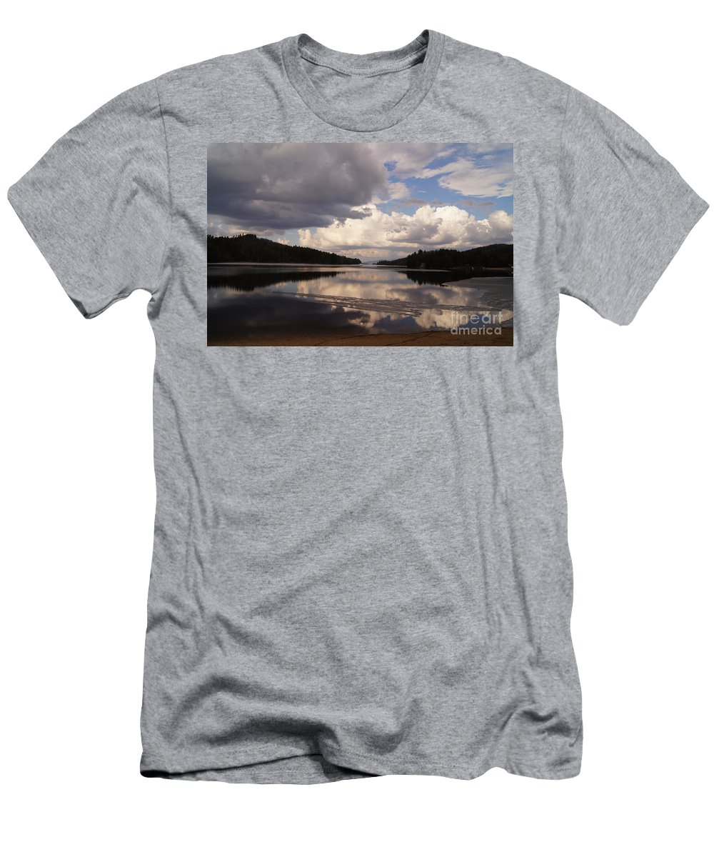 Lakes Men's T-Shirt (Athletic Fit) featuring the photograph Lakeview by Jeffery L Bowers