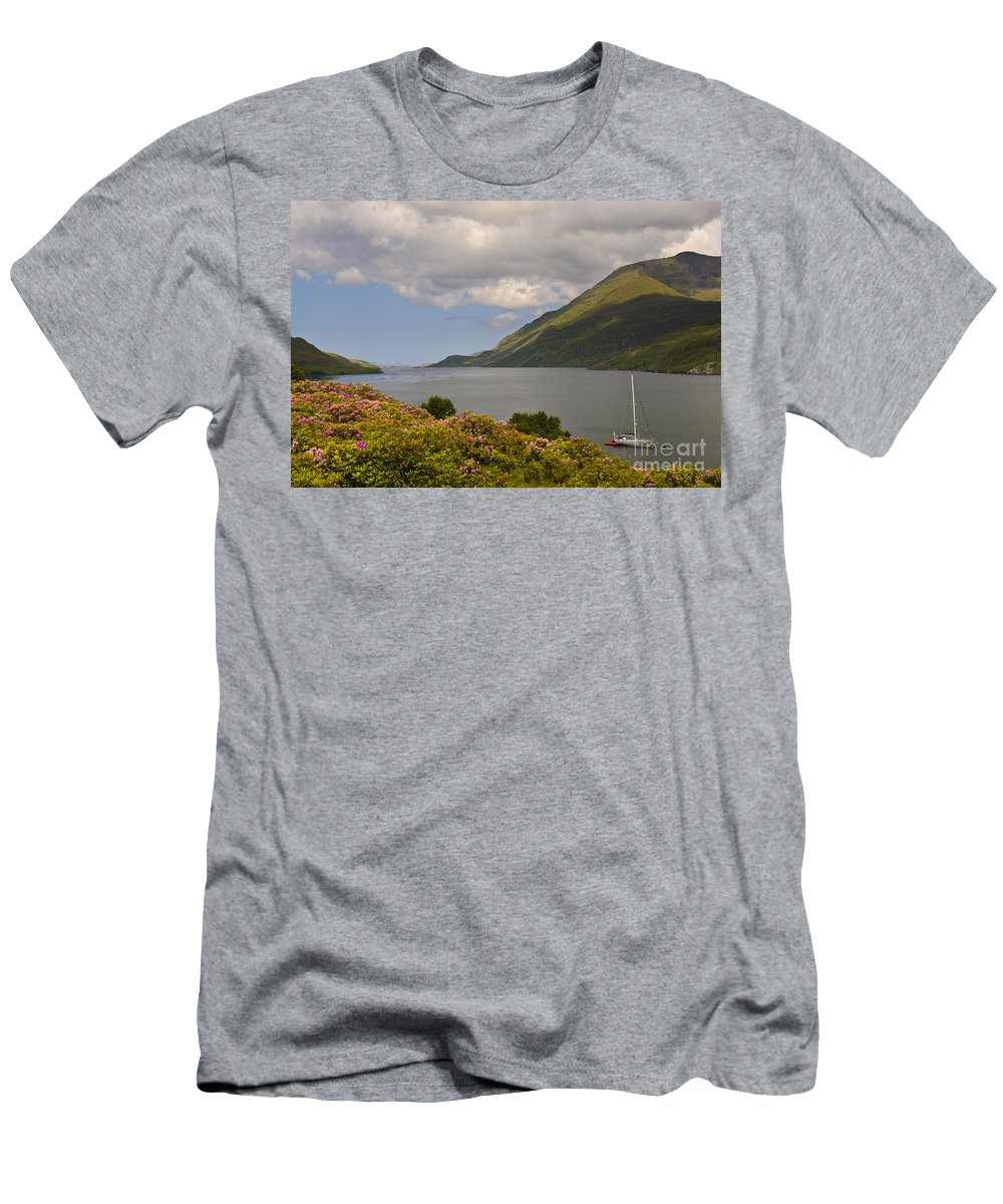 County Mayo Men's T-Shirt (Athletic Fit) featuring the photograph Landscape Around Killary Harbour by John Shaw