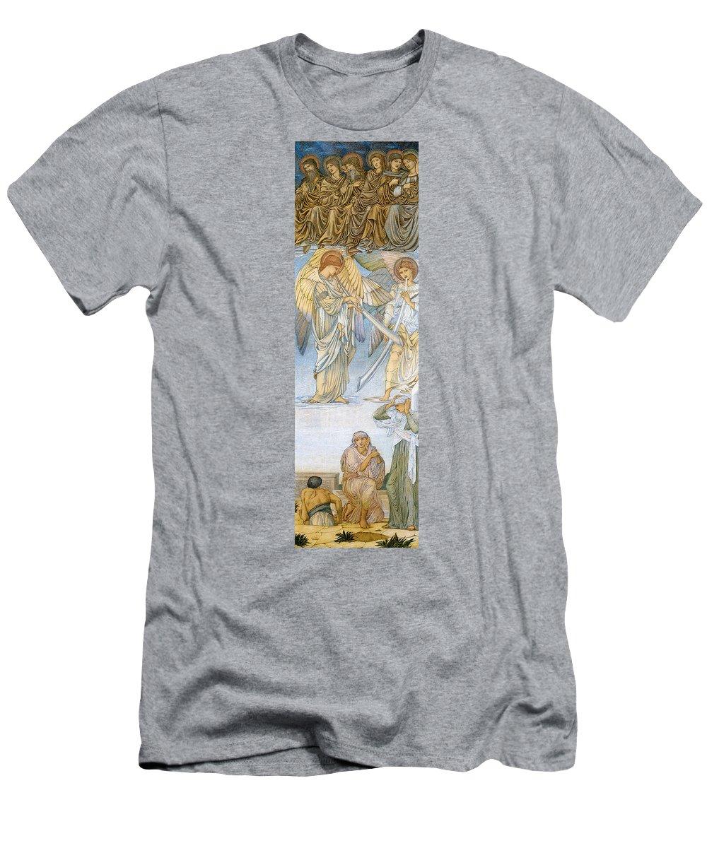 Edward Burne Jones Men's T-Shirt (Athletic Fit) featuring the digital art Last Judgement by Edward Burne Jones