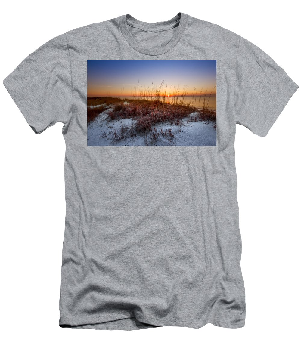 Clouds Men's T-Shirt (Athletic Fit) featuring the photograph Last Whisper by Debra and Dave Vanderlaan