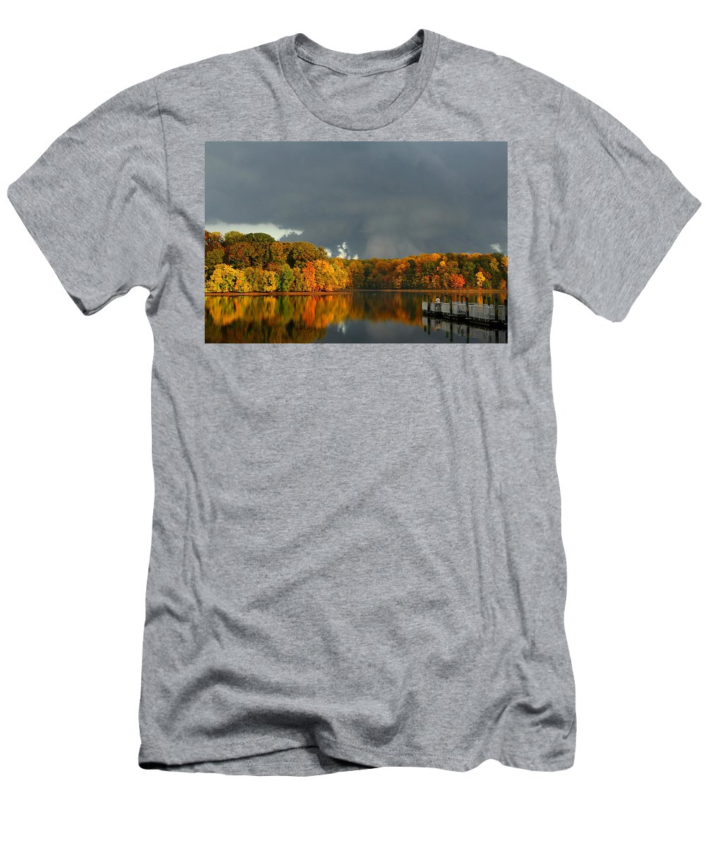 Great Men's T-Shirt (Athletic Fit) featuring the photograph Late Autumn Storm by Scott Fracasso